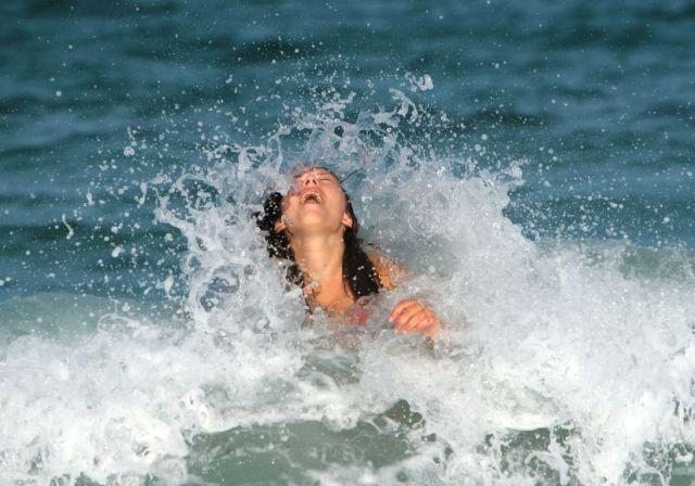 5760733 - joy in the ocean waves